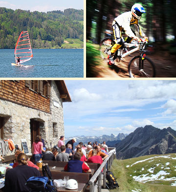 Windsurfing und Mountainbiking